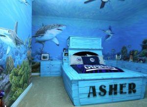 Under Water Shark Week Inspired Bedroom Mural