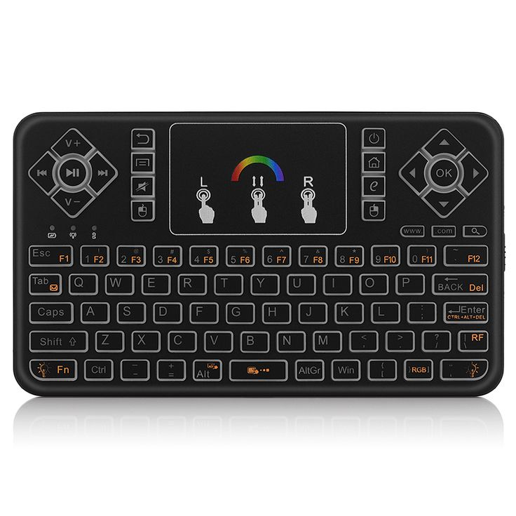 7 Colors Backlit Remote Control 2.4G Wireless Mini Keyboard Touchpad Air mouse for PC Andriod TV Box Portable mini GamePad Q9 www.realorz.com