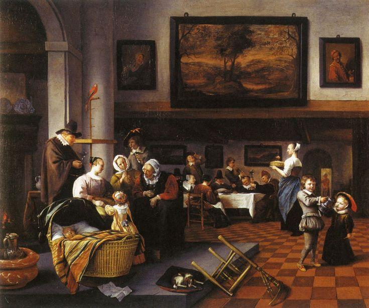 SOO DE OUDEN SONGEN, SO PYPEN DE JONGEN. oil on canvas. 83 × 99 cm.