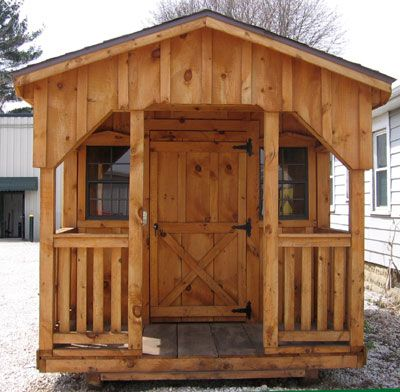 Cabin with porch sheds front outdoor home pinterest for Shed with porch