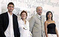 John Malkovich, Chiara Caselli, Liliana Cavani, and Dougray Scott at an event for Ripley's Game (2002)