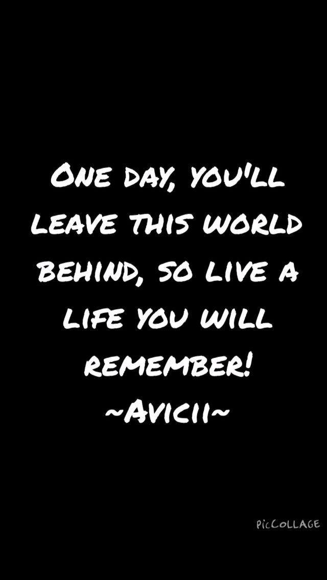 That's it! ~Avicii