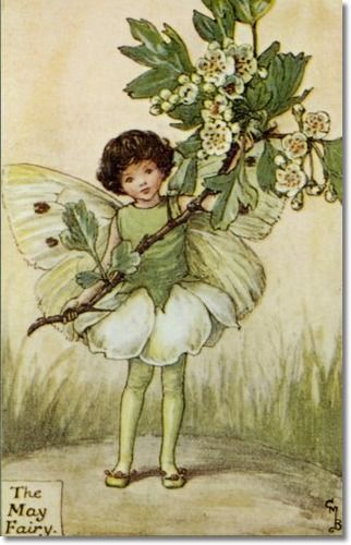 Cicely Mary Barker - Flower Fairies of the Spring - The May Fairy Archival Fine Art Paper Print