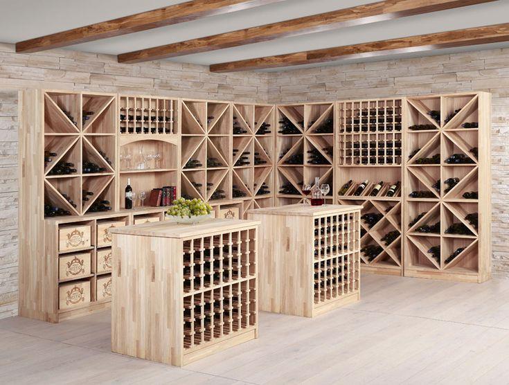 Weinregalsystem Prestige aus massiver Eiche