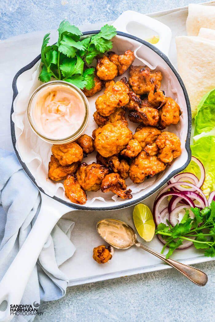 Airfryer Cauliflower Wings Cauliflower Wings Recipe Sandhya S Kitchen Recipe Cauliflower Wings Healthy Superbowl Snacks Vegan Buffalo Wings Recipe