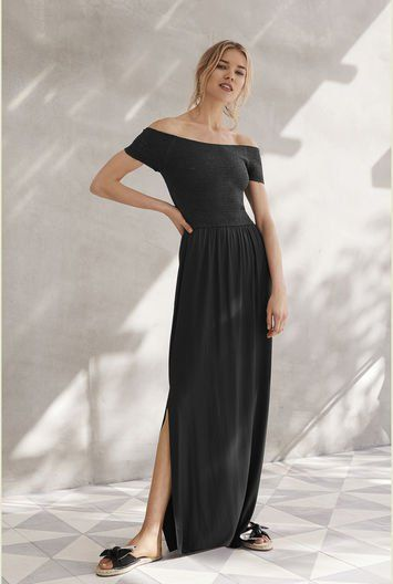 13dd6ae14d6 Shirred Jersey Maxi Dress