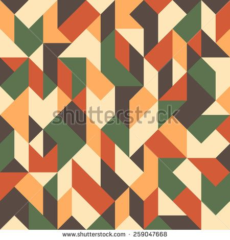 Abstract seamless pattern with triangles and rhombuses. #geometricpattern #vectorpattern #patterndesign #seamlesspattern