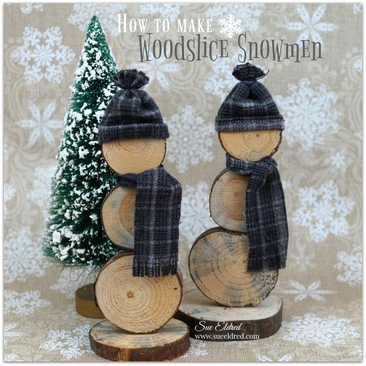 A cute Holiday Decoration or Gift.  I love Snowmen and these cute little guys made from Wood Slices cut from branches trimmed from our old pine tree. This past…