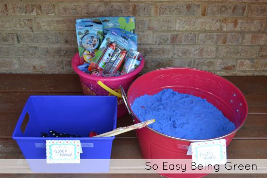 Mickey Mouse Party!  Game ideas for a Toddler Mickey Mouse Birthday Party - Digging for Pluto Bones and Fishing for Gooeyfish