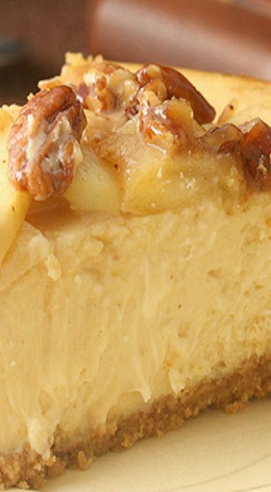 Caramel Apple Pecan Cheesecake