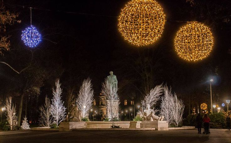 Le champs de Mars illuminé (Photo : Philippe Derozier) #Colmar #Alsace #France #Noël #Christmas #Weihnachten #lights #Lumière #Licht #travel #voyage #Reise (www.noel-colmar.com)