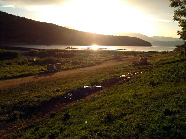 Sunrise in the Prespa Lakes