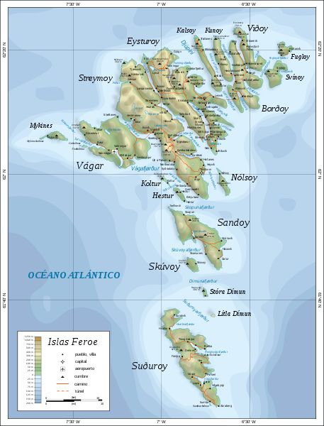 Archivo: Mapa de las Islas Feroe es.svg - Wikimedia Commons