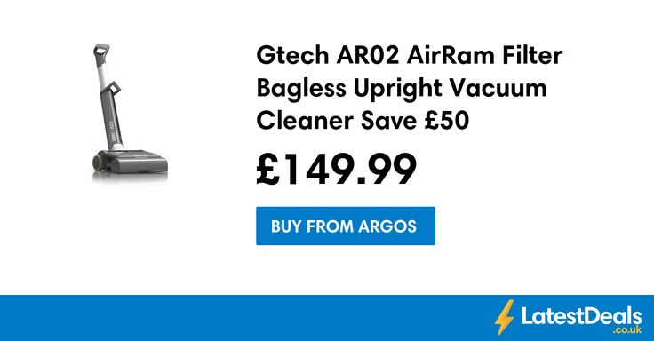 Gtech AR02 AirRam Filter Bagless Upright Vacuum Cleaner Save £50, £149.99 at Argos