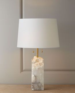 H6TDB Regina-Andrew Design Raw Alabaster Lamp