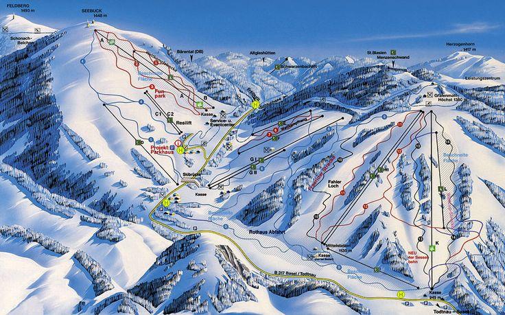 Feldberg Ski Map
