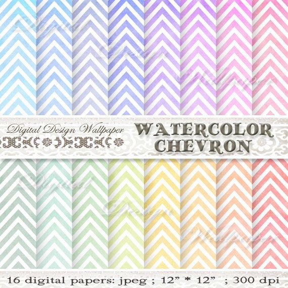Chevron digitale Aquarellpapier, Aquarell-CHEVRON-Hintergrund, rosa, blau, rot, Orange, grün, Hand bemalt Chevron, Aquarell Chevron