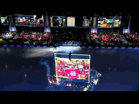 Here's a Social TV Integration I lead for Battle of the Blades - it brings the social audience directly into the show, using projections on the set.