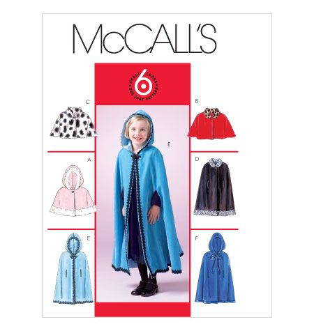 Children's/Girls' Lined Capelets and Capes