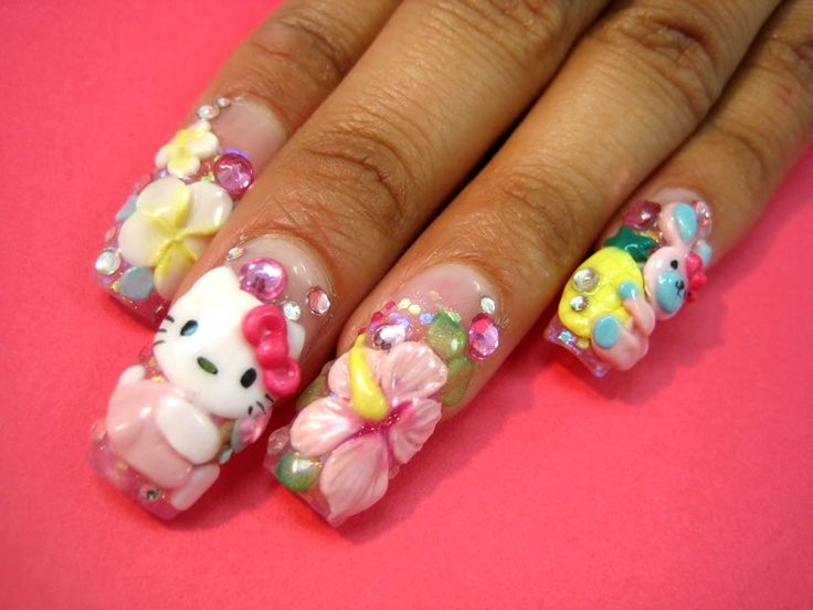 35 best FIMO Nail Art images on Pinterest | Fimo, Belle nails and ...