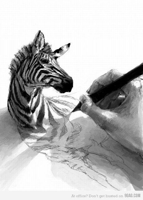 Drawing zebra: Sketch, Zebras Drawings, The Artists, Drawings Art, Illustration, 3D Drawings, Pencil Drawings, Pencilart, Pencil Art