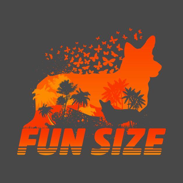 Check out this awesome 'Fun+Size+Corgi+Silhouette' design on @TeePublic!