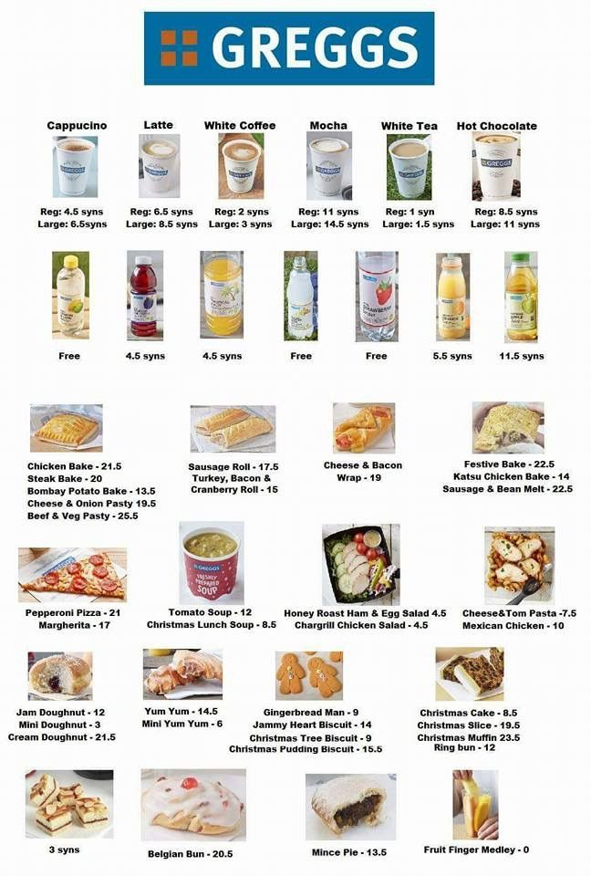 Gregs Syns Uk Slimming World 5 2 Pinterest Foods