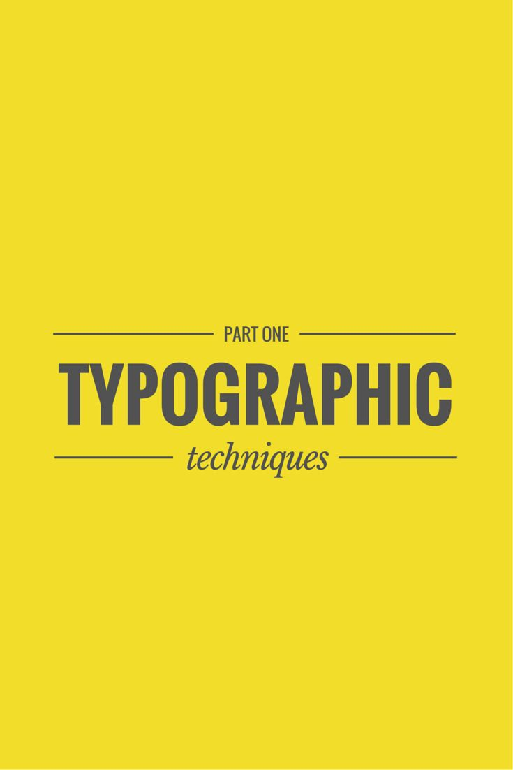 Typography Tips and Tricks: Part One