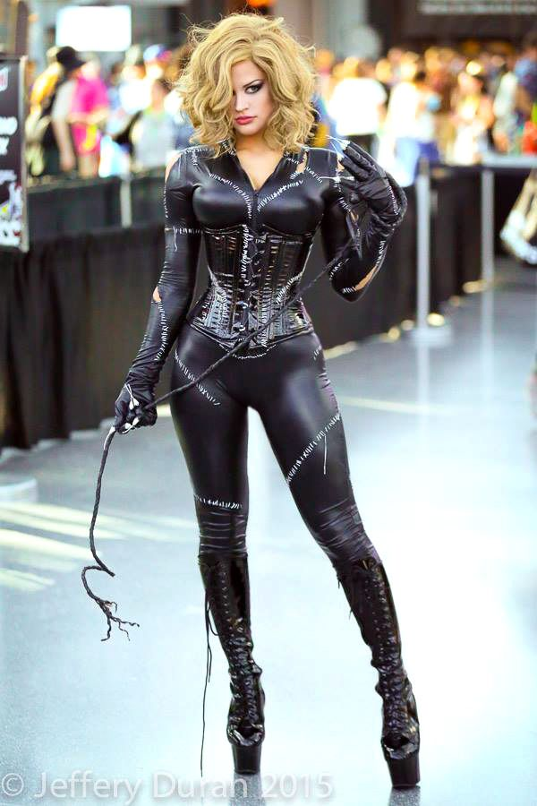 beautilation:  Another of my Catwoman cosplay, that whip is working it harder than I am.