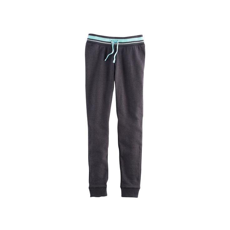 Girls 7-16 & Plus Size SO® Metallic Jogger Pants, Size: 18 1/2, Turquoise/Blue (Turq/Aqua)
