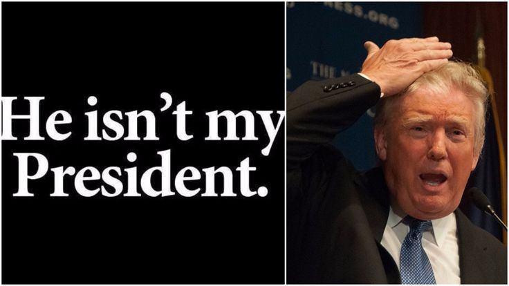 While Democratic leadership is saying all the needed words to help with a smooth transition to power, an angry Democratic base is sending a loud and clear message that they will never accept Donald Trump as their president.
