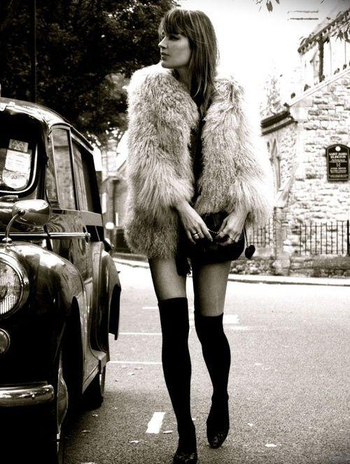 faux fur & knee socks - my loves ;)