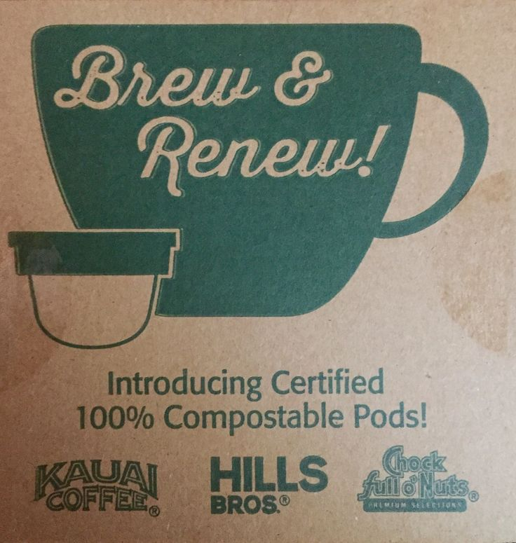 #BrewAndRenew compostable coffee pods