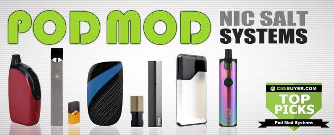 TOP PICKS: Best E-Cig Pod Mods & Vape Pod Systems: https://www.cigbuyer.com/best-ecig-vape-pod-systems/ #ecigs #ecigarette #vaping #vape #vapepod #podvape #ecigpod #nicotinesalt #nicsalt