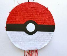 POKEMON POKEBALL PIÑATA, fiesta de cumpleaños, favor, tirar la piñata de cadena de TRUSTITI en Etsy https://www.etsy.com/es/listing/517136185/pokemon-pokeball-pinata-fiesta-de