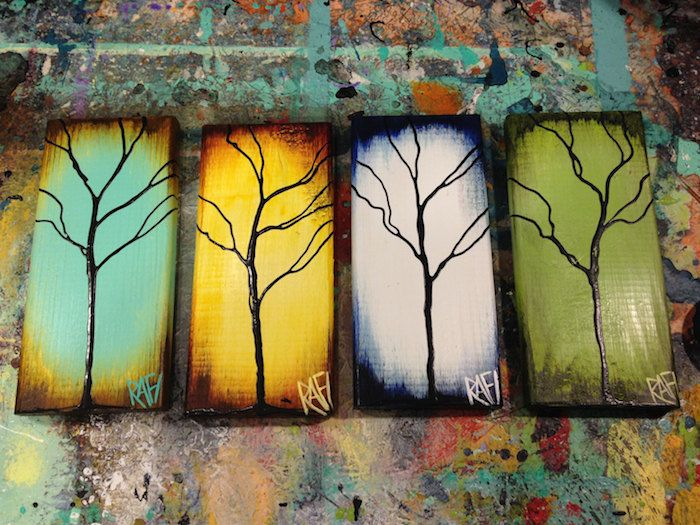 four seasons abstract painting - Google Search