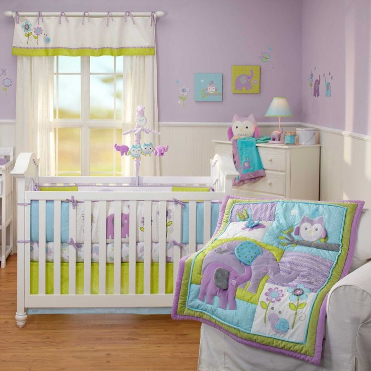 Cozy Purple Theme Nursery Ideas