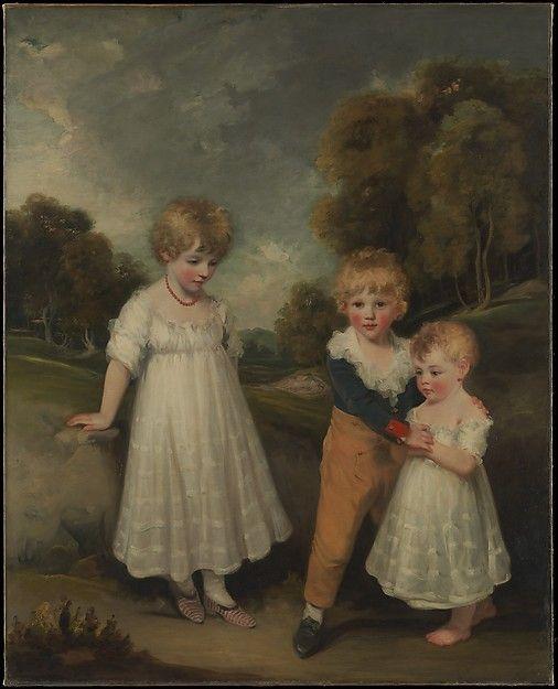 The Sackville Children Artist: John Hoppner (British, London 1758–1810 London) Date: 1796 Medium: Oil on canvas Dimensions: 60 x 49 in. (152.4 x 124.5 cm) Classification: Paintings Credit Line: Bequest of Thomas W. Lamont, 1948