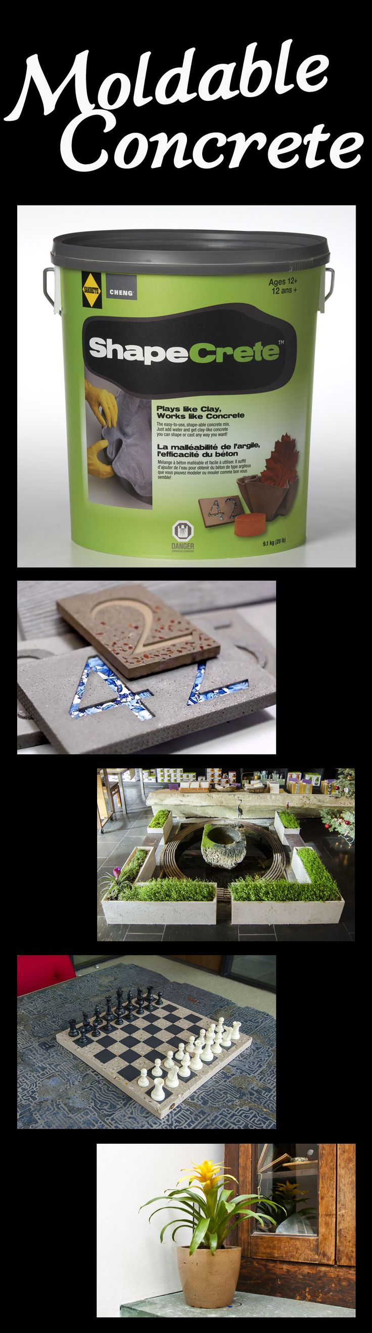 Make your own #DIY project out of moldable cement! The possibilities are…