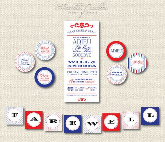 PRINTABLE PARTY COLLECTION -- Modern Moving Party -- Mirabelle Creations