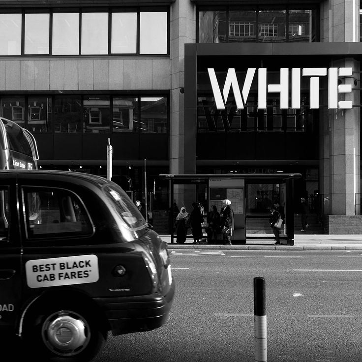 White Print, Black And White Print, Black Taxi Print, Black Cab Print, London Print, Typography Wall Art, Photography, Street Photography by AmadeusLong on Etsy