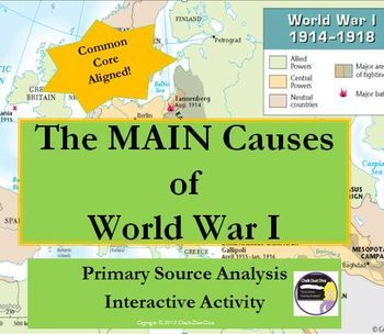 the three main causes of world war i Read this full essay on three main causes of world war i while we are always reminded of the negative effects of war, it is not everyday that we learn to un.