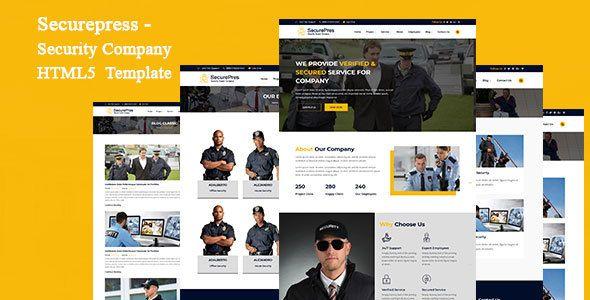 Securepress Security Company Html Responsive Template Security Companies Event Security Web Design Tutorials