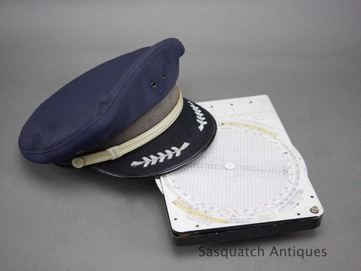 "VINTAGE AIRLINES PILOT ""CRUSHER""  VISOR CAP ROOM 7 1/4"" SIZE SEE MORE THIS WEEK"
