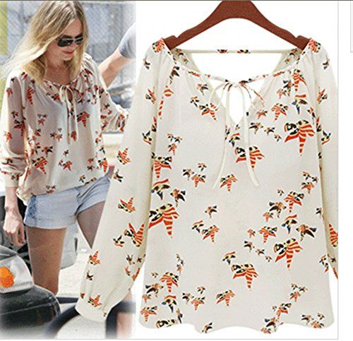 "SANQIU 2014 NEW Fashion Women White Long Sleeve Chiffon Casual Tops Shirt Blouse 1200 (S) - S: Length :63cm/24.8"",boost: 100cm/39.3"" ,sleeve:61cm/24.01"" M: Length :65cm/25.5"",boost:107cm/42.1"" , sleeve:62cm/24.4""  L: Length :67cm/26.3"",boost :114cm/44.88"" , sleeve:63cm/24.8"", XL: Length :69cm/27.1"",boost :122cm/48.03"" ,... - http://ehowsuperstore.com/bestbrandsales/clothing/sanqiu-2014-new-fashion-women-white-l"