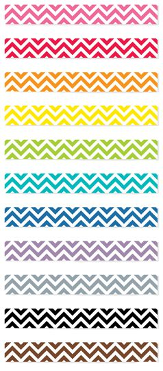 Check out all of the Chevron Borders, including the new Pink Chevron!  Chevron is still a hot trend for classroom bulletin boards.
