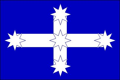 The Eureka Flag representing the rebellion of Australian miners against the British colonial government, 1854