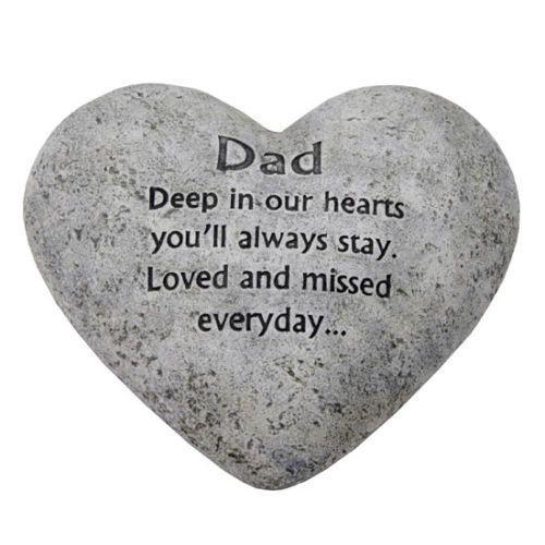 In-Loving-Memory-Graveside-Heart-Plaque-Stone-Dad-Grave-Memorial