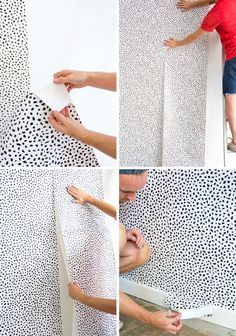 emily henderson how to put up temporary wallpaper
