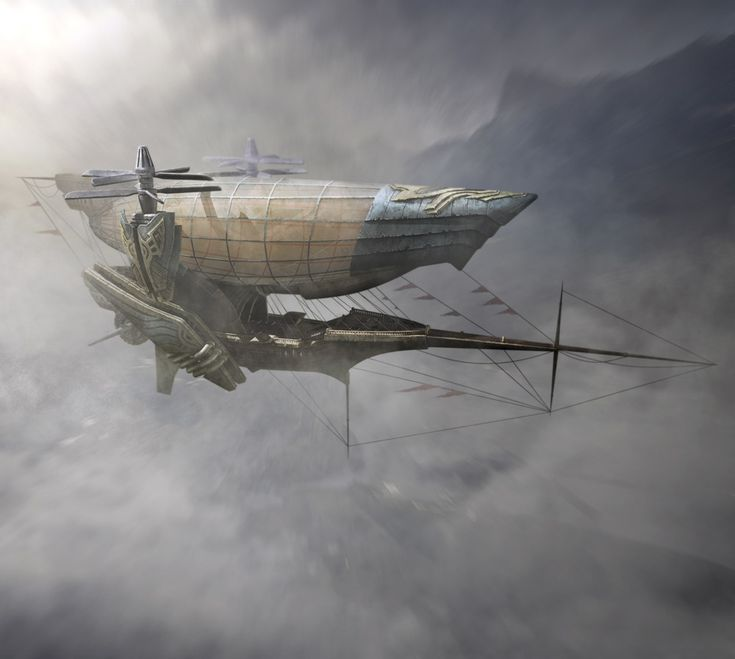 Airship by Tao Yang, Imperial Airship, Steampunk. | Spectacular Moments of Wonder with Dr. Monocle